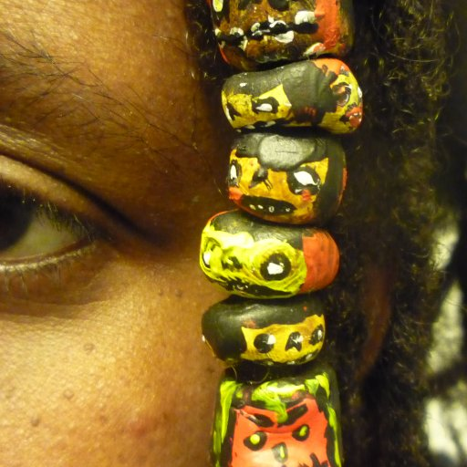 Polymer Clay Ghoulie Dread Beads