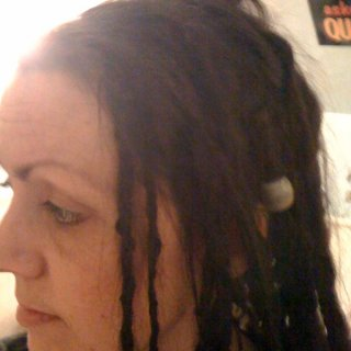 """Started with T&R and minimal crochet.Nothing since besides washing twice so far with baking soda and rosemary/tea tree/lavender oil. Wishing they weren't so """"braided"""" and strand-y looking...but I can tell each day they are doing their thing:)"""