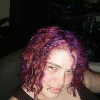 Purple/pinky but still wet need better pics yet!