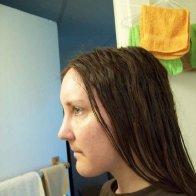 before locks - no shampoo