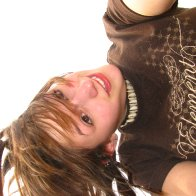 hanging upside down. :p