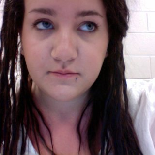 I was trying to take a picture during class. I didn't want to look crazy by smiling at my laptop. lol