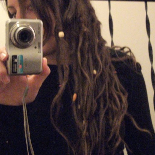 Side of my head view TnR dreads/4 months