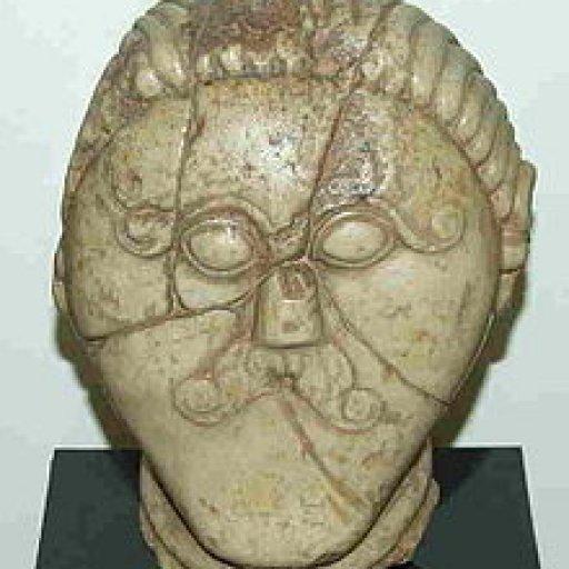 celtic stone head