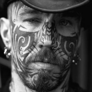 love the face tattoo
