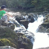 river nevis and me chilling haha