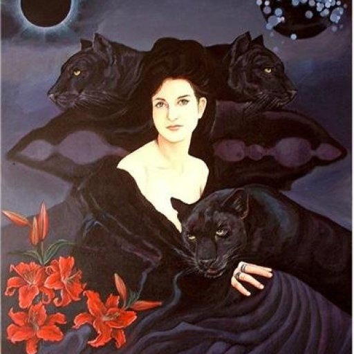 Black Panthers with Woman