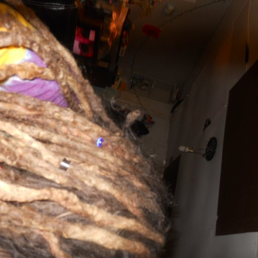 the middle of my dreads