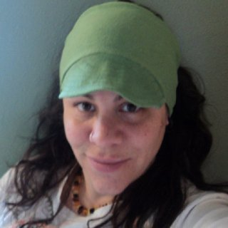 Just before I knatted up my hair. I'm wearing an organic hemp cotton topless bill beanie that I made (and sell).