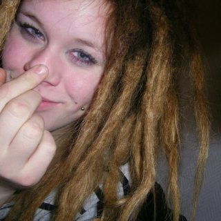 happy happy happy -dreads one week old