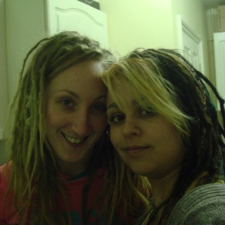 i did vicky's dreads about 2 eyars ago, twist and rip and back comb. they were supper fluffy when we first did them then settled into these beauties