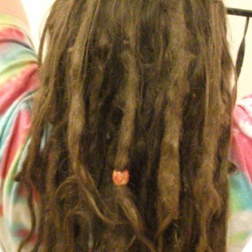 5 month TnR dreads close-up