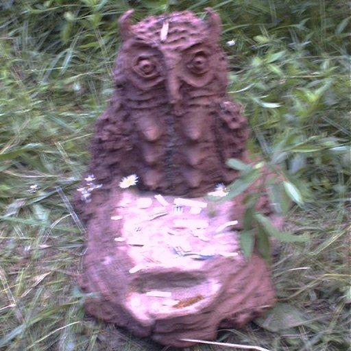 michigan rainbow gathering mud sculpture