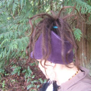 organic hemp cotton jersey topless billed visor beanie! My dreadlocks are now 3 months old :)