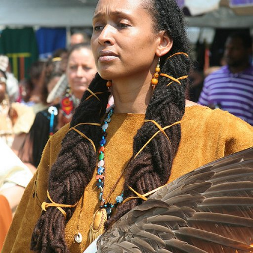 Beautiful Traditional Dancer at a Nansemond Pow Wow