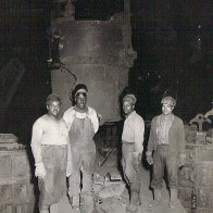 Dad and his friends at the steel mill
