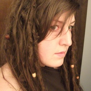 see some hair decided to leave the dreads that were forming, I'll probably have a few real skinny dreads I'd imagine...