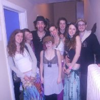 chillin backstage with simon from shpongle!!