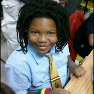 My little Rasta Man at Honors Day ! representing