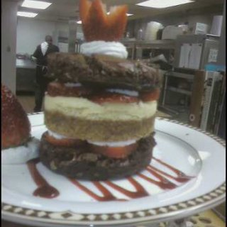 the Brownie Cheesecake Strawberry Stacker! better known as...(The BCSS)