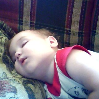 my little angel sleeping