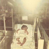 Me in the nursery -- 1 day old