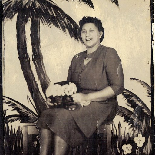 """Apokni (""""Grandma"""" in Chahta/Choctaw) and the palm trees"""