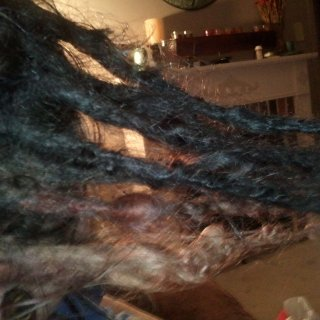 Right side of dreads.