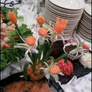 Carrots and green onion Flowers!!! Fun time lol