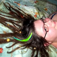 Dreadies Splayed on Bed