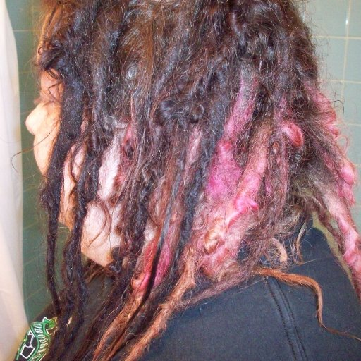 dreads right side down #2 at 5 months