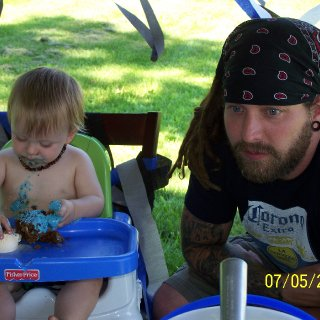 My sons first birthday and my dreads second birthday. More pics to come.