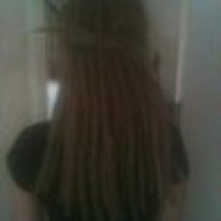 brand new dreads. backcombed. no products. no crochet. lost about 5 or 6 inches in length took 7 hours :)