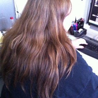 This was my hair before backcombing.