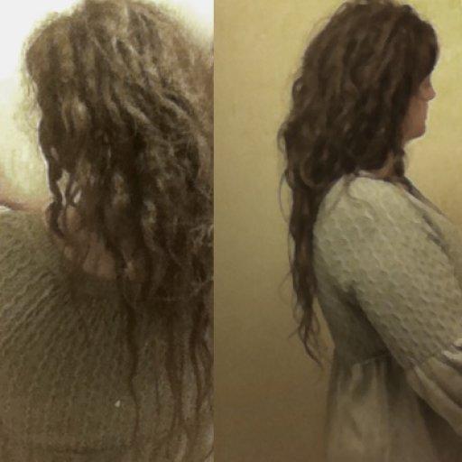 Locking fine & wavy hair