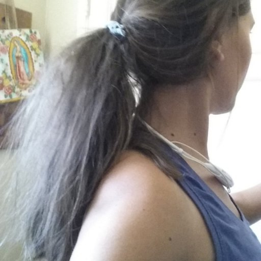 Baby dreads being frizzy in a ponytail