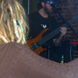 This shot was not intentional but I thought it turned out to be pretty cool. That's my buddy there slappin the bass