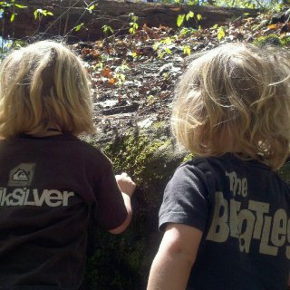 That's some wild hair on my sons. To dread or not to dread...
