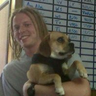 Me at work with my bosses Dog