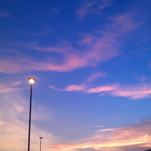 I love blue skies with pink clouds