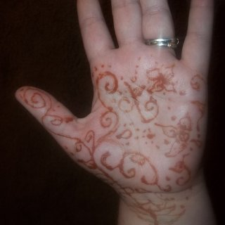 My attempt at Self-Henna