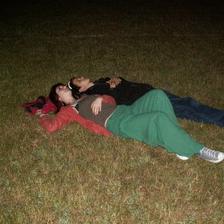 My brother and me, looking at the stars. :)