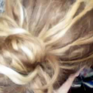 This is how they are only AT work, any other time they are FREE! Sorry, my phone doesnt take pictures good at all!!! You can sort of see though that on the ends they are not knotted at all yet and at the roots they are just sort of deciding where they want to go.....I got Fat Boys and Skinny Girls...ALL differnt sizes.....LOVE <3