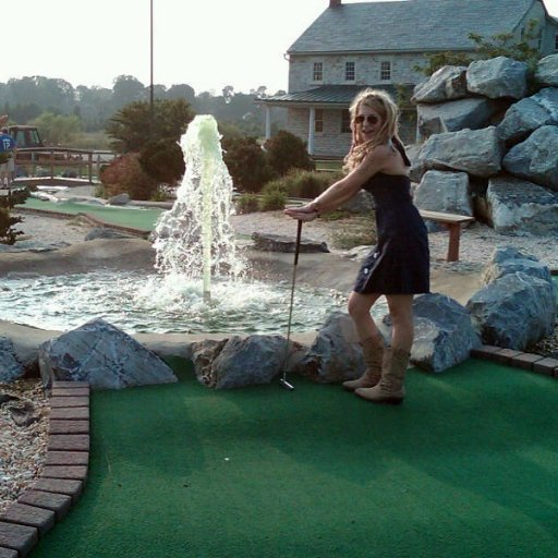 mini golf and cow boy boots <3