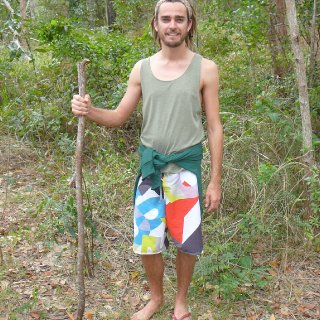 Fraser Island, September 2011..... I lost a flip flop on the walk, I don't make a habit of wearing one ;) haha