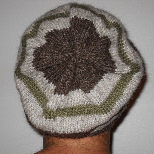 Green virgin wool hat