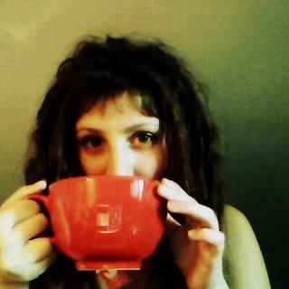 enjoying a huge cup of tea :)