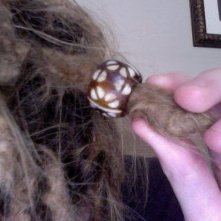 Not exactly sure what this bead is made out of, bone possibly? It's quite heavy.
