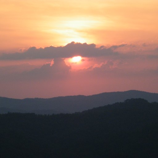 beautiful sunset over the mountains in Tenn.