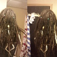 dreads side to side